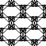 Black and white abstract geometric seamless pattern.  royalty free illustration