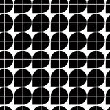 Black and white abstract geometric seamless pattern, contrast il. Lusory regular background Stock Photo
