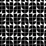 Black and white abstract geometric seamless pattern, contrast mo Royalty Free Stock Images
