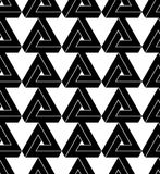 Black and white abstract geometric seamless pattern. Royalty Free Stock Photo