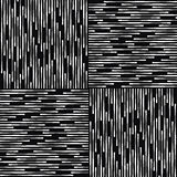 Black and White Abstract Geometric Vector Pattern. Royalty Free Stock Image