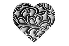 Black and White Abstract Heart Royalty Free Stock Photography