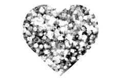 Black and White Abstract Heart Stock Photos