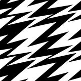 Black and white abstract lightning seamless pattern Royalty Free Stock Photos