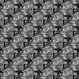 Black and white abstract modern floral seamless pattern. Black and white abstract decorated floral pattern with 3D illusion for textiles, fabrics, wallpapers vector illustration