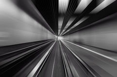 Black and white abstract motion Stock Photography