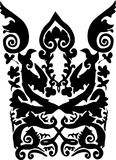 Black and white abstract ornament stock illustration