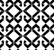 Black and white abstract ornament geometric seamless pattern. Sy Royalty Free Stock Photography