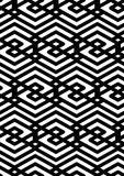 Black and white abstract ornament geometric seamless pattern. Sy Stock Image