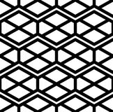 Black and white abstract ornament geometric seamless pattern. Sy Royalty Free Stock Images