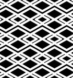 Black and white abstract ornament geometric seamless pattern. Royalty Free Stock Image