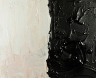 Black & white abstract painting background Royalty Free Stock Images