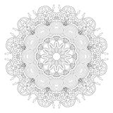 Black and white abstract pattern, mandala. Stock Images
