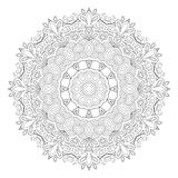 Black and white abstract pattern, mandala. Royalty Free Stock Photos