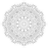 Black and white abstract pattern, mandala. Royalty Free Stock Photos