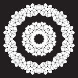 Black and white abstract pattern, mandala. Vector design template for art Royalty Free Stock Photos