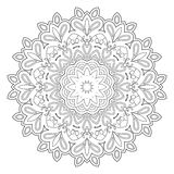 Black and white abstract pattern, mandala. Royalty Free Stock Image