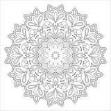 Black and white abstract pattern, mandala. Royalty Free Stock Image