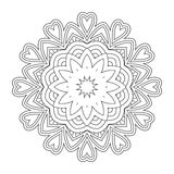 Black and white abstract pattern, mandala. Royalty Free Stock Images