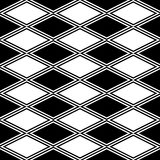 Black and white abstract pattern with rhombus Stock Image