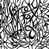 Black and white abstract pattern in tattoo style Stock Images