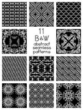 Black And White Abstract Patterns Royalty Free Stock Image