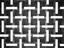 Black and white abstract prism structure Stock Photos