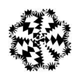 Black and White Abstract Psychedelic Art Background. Vector Illu Royalty Free Stock Photo