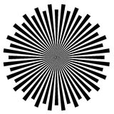 Black and White Abstract Psychedelic Art Royalty Free Stock Photography
