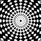 Black and White Abstract Psychedelic Art Stock Photos