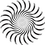 Black and White Abstract Psychedelic Art Royalty Free Stock Photo
