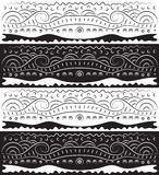 Black White Abstract Scroll Pattern Royalty Free Stock Photos