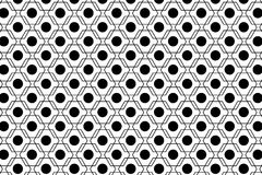 Black and white abstract seamless geometric pattern Stock Images