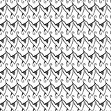 Black and white abstract seamless pattern Royalty Free Stock Photos