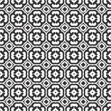 Black And White abstract , seamless pattern followed by four leaf clover design, symmetricl royalty free illustration