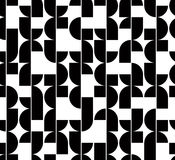 Black and white abstract seamless pattern, vector contrast regul Stock Photos
