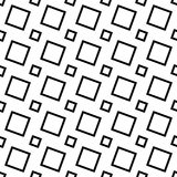 Black and white abstract seamless square pattern - vector background   Royalty Free Stock Image