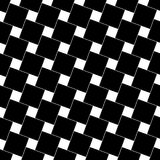 Black and white abstract seamless square pattern - vector background graphic from angular squares. Black and white abstract seamless geometric square pattern stock illustration