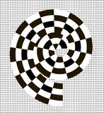 Black and white abstract spiral Stock Images