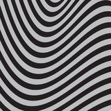 Black and White Abstract Striped Background. Optical Art. 3d Vector Illustration Stock Images