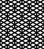 Black and white abstract textured geometric seamless pattern. Sy Stock Photos