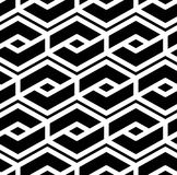 Black and white abstract textured geometric seamless pattern. Sy Stock Image