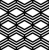 Black and white abstract textured geometric seamless pattern Royalty Free Stock Photos