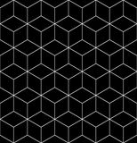 Black and white abstract textured geometric seamless pattern. Ve Stock Images