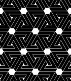 Black and white abstract textured geometric seamless pattern. Ve Royalty Free Stock Images