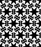 Black and white abstract textured geometric seamless pattern. Ve Stock Photos