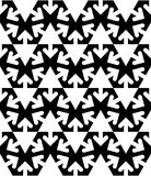 Black and white abstract textured geometric seamless pattern. Ve Stock Photography