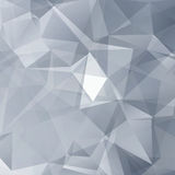 Black and White Abstract Triangles Vector Background Stock Photo