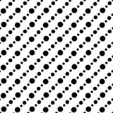 Black and white abstract vector background and seamless repeat pattern design Stock Image