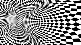 Black and white abstract vector tunnel. Optical illusion Stock Photography